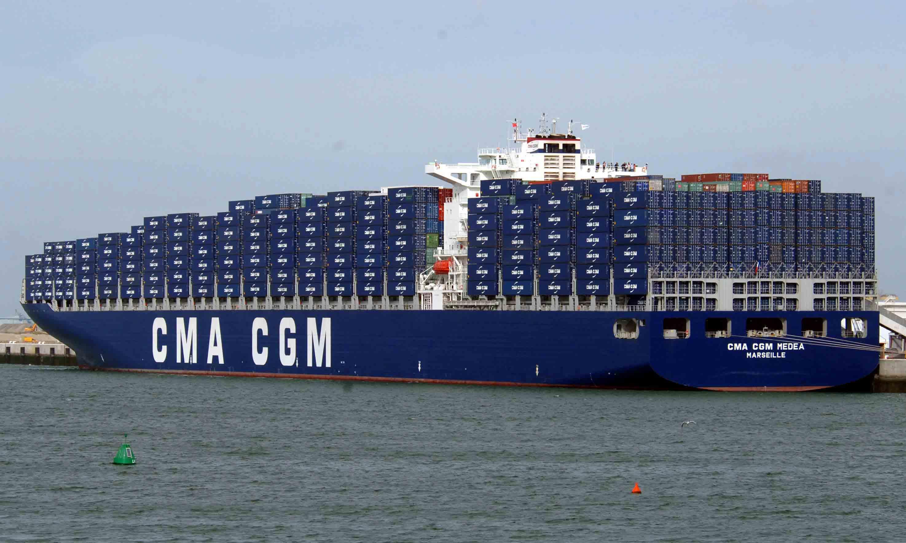Un porte conteneur de 398 m tres baptis au havre il - Le plus grand porte conteneur du monde au havre ...